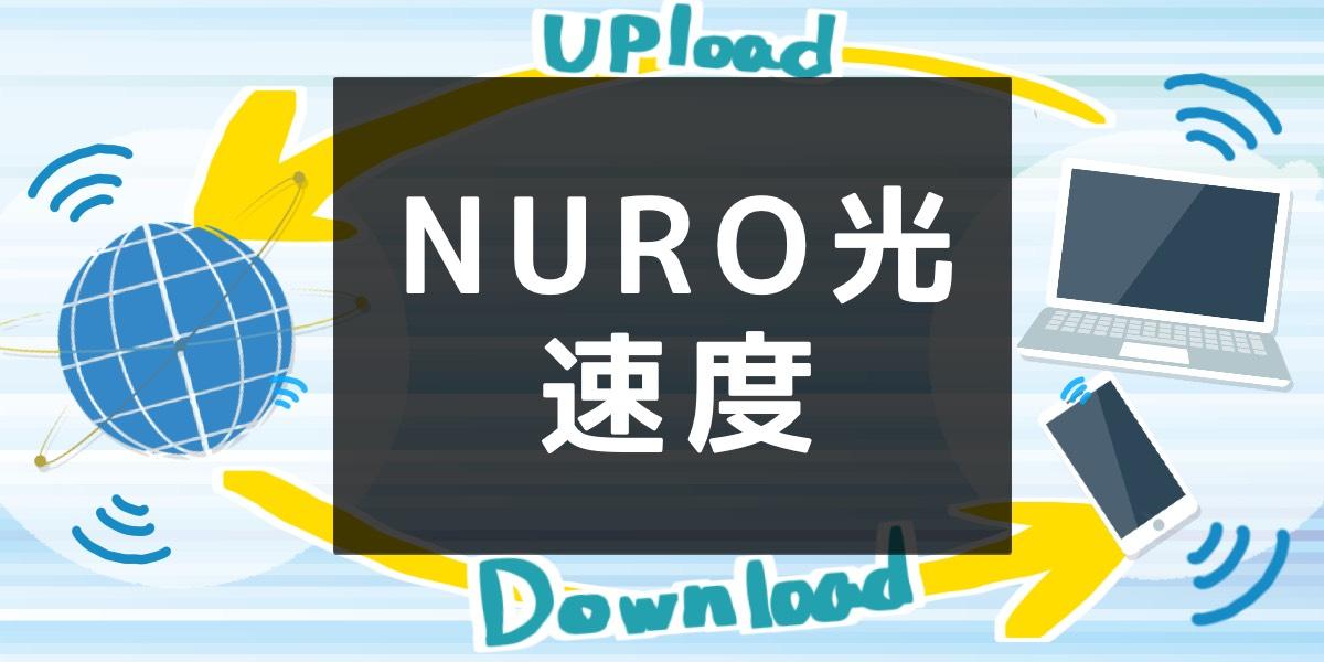 「NURO光の速度について」のアイキャッチ