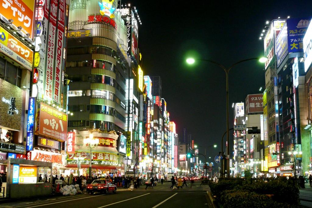 新宿の夜の様子