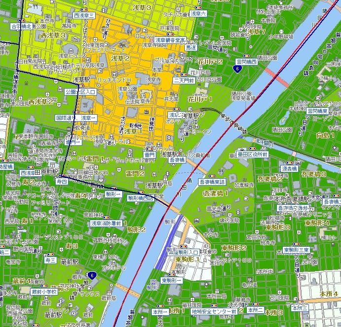 浅草駅の犯罪マップ