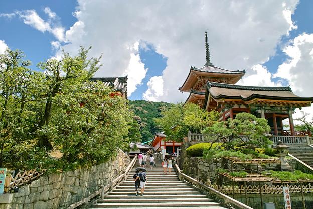 清水寺の階段からの景色