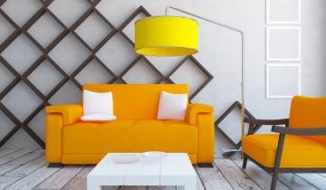 黄色の家具