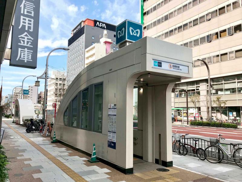田原町駅の街並み