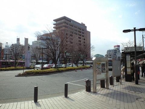 駅前(南口)のロータリー