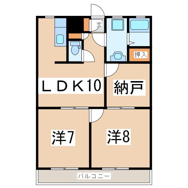 2SLDKの間取り図
