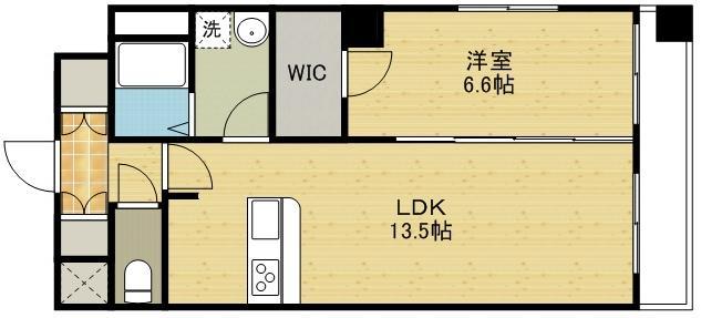 1LDKの間取り図