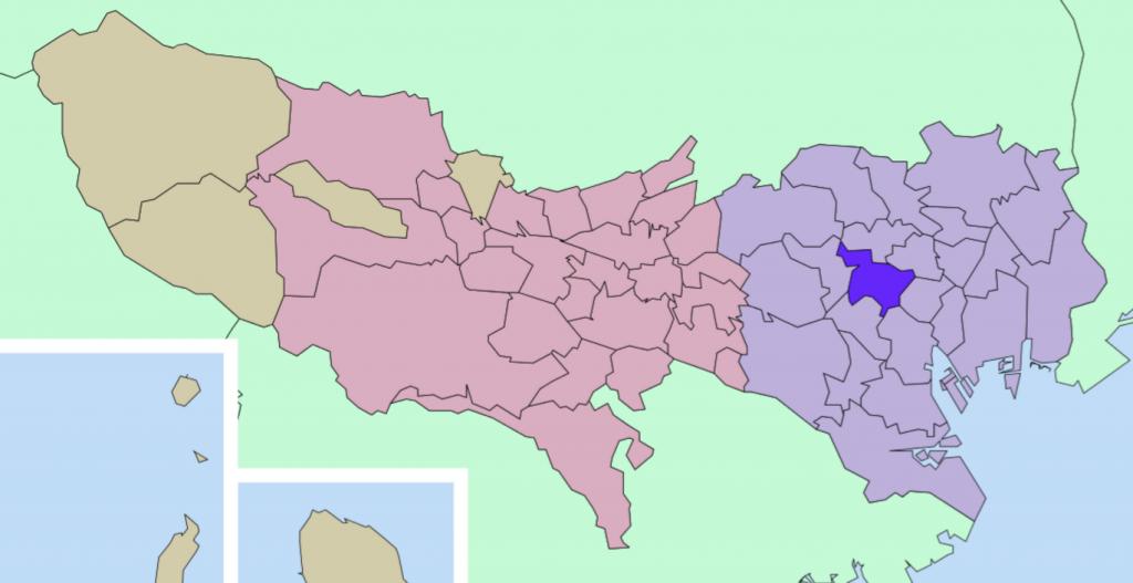 新宿区の地図