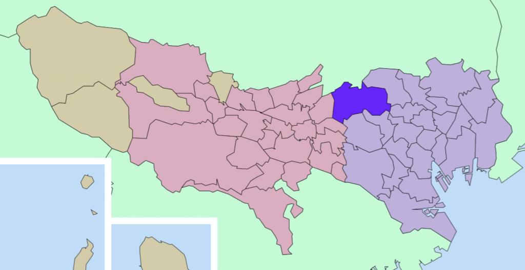 練馬区の地図