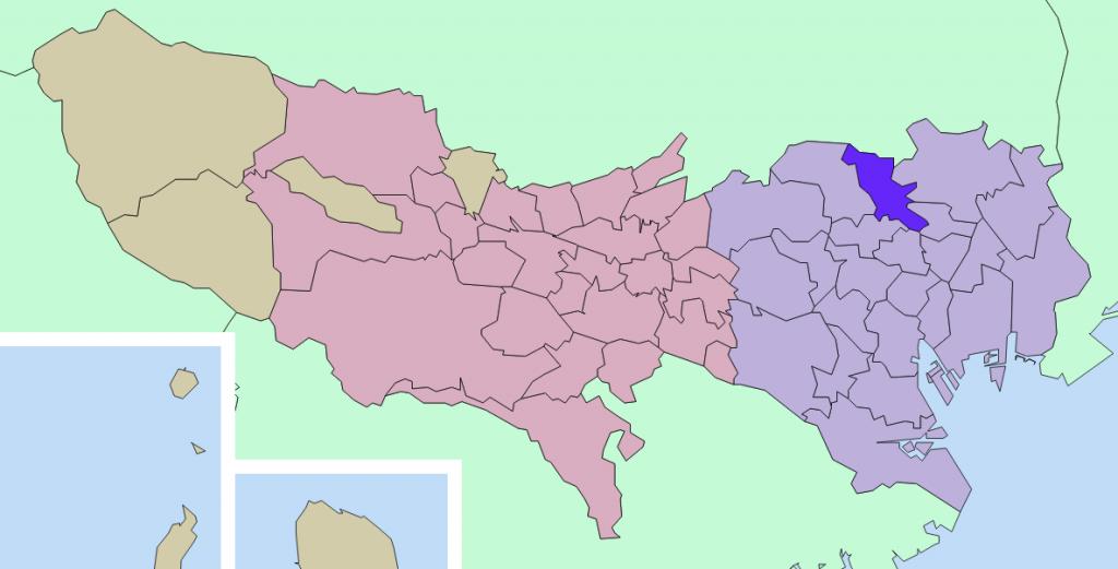 北区の地図