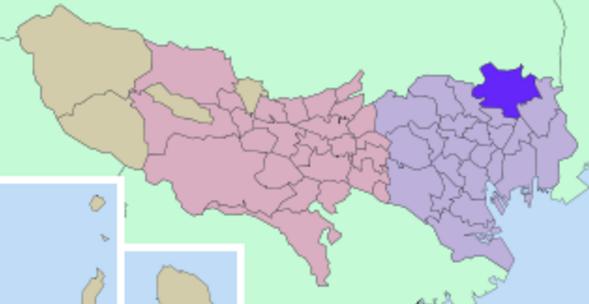 足立区の地図