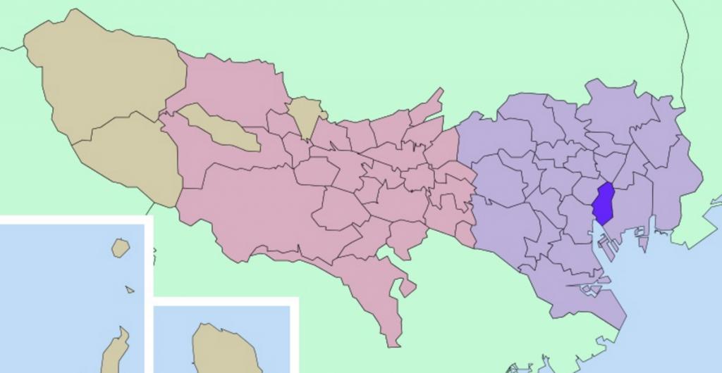 港区の地図