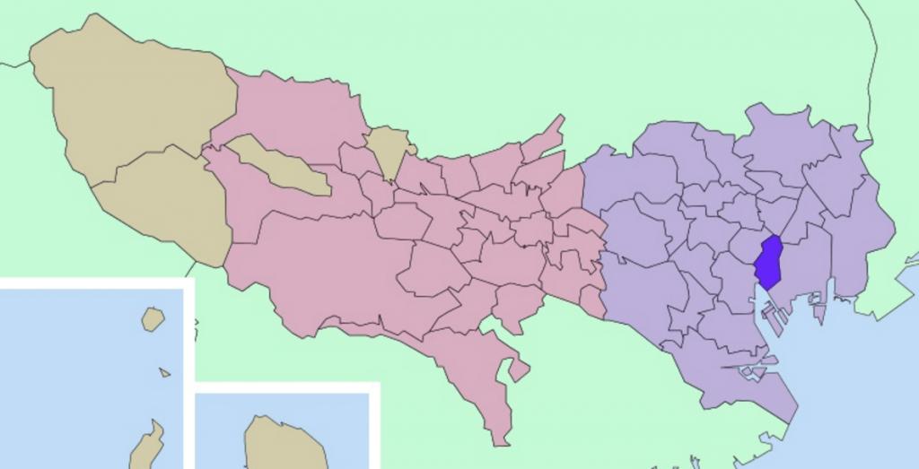 中央区の地図