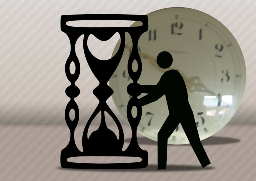 砂時計と時計