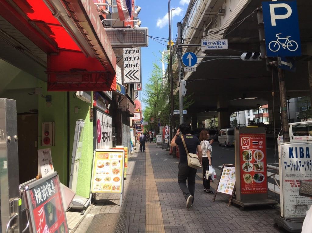 北口側の大通り沿い
