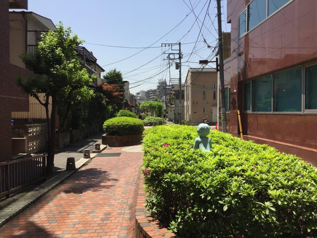 住宅街にある通り