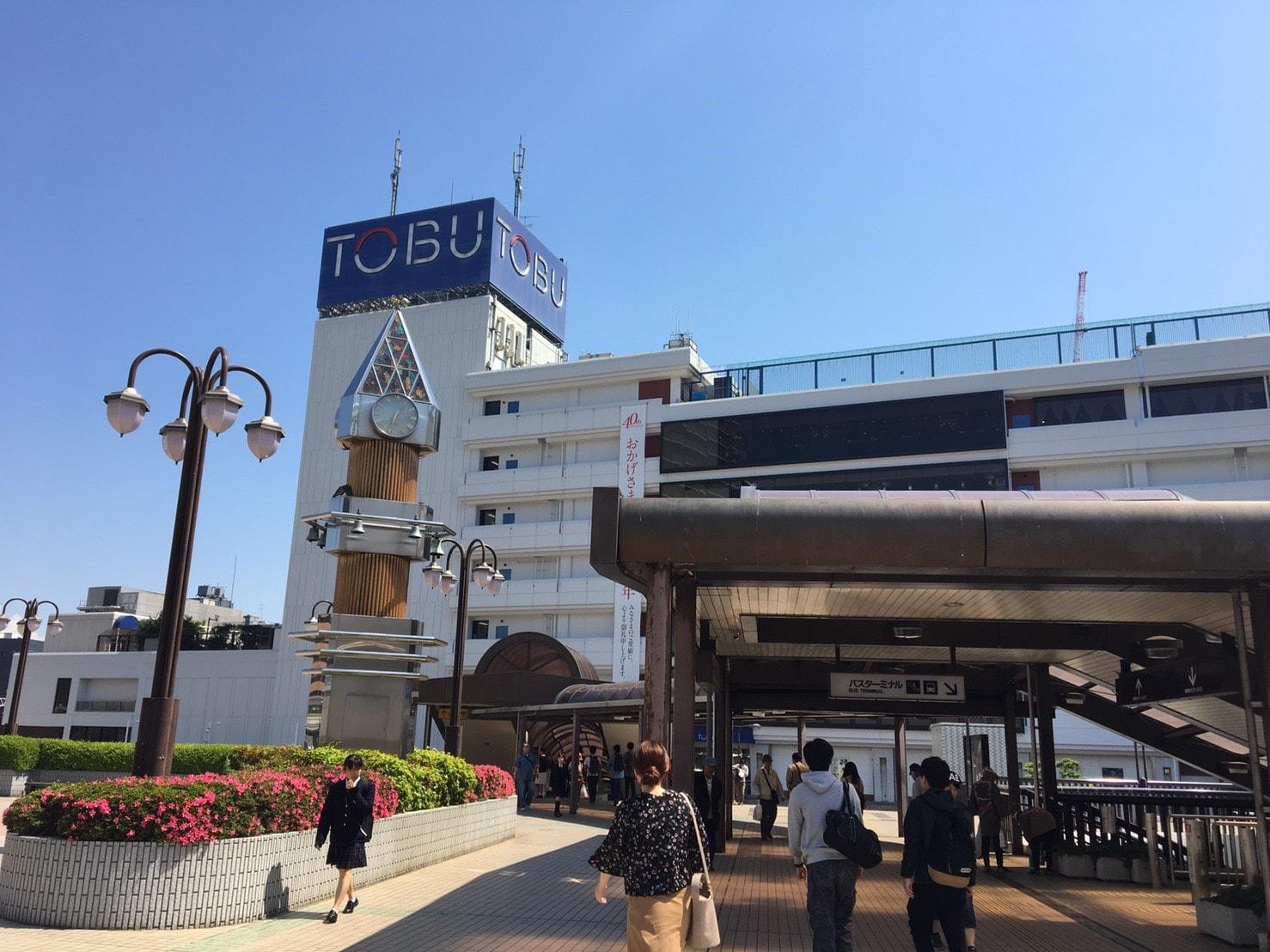 船橋駅前の東武百貨店