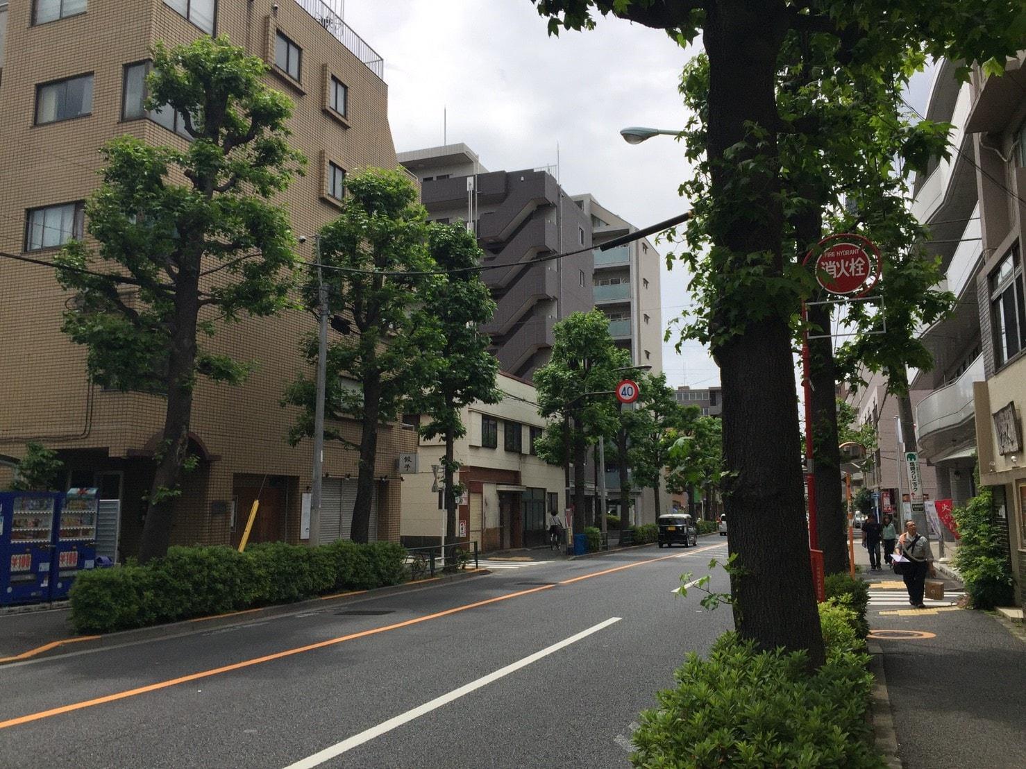大通り沿いに並び立つ単身向けのマンション