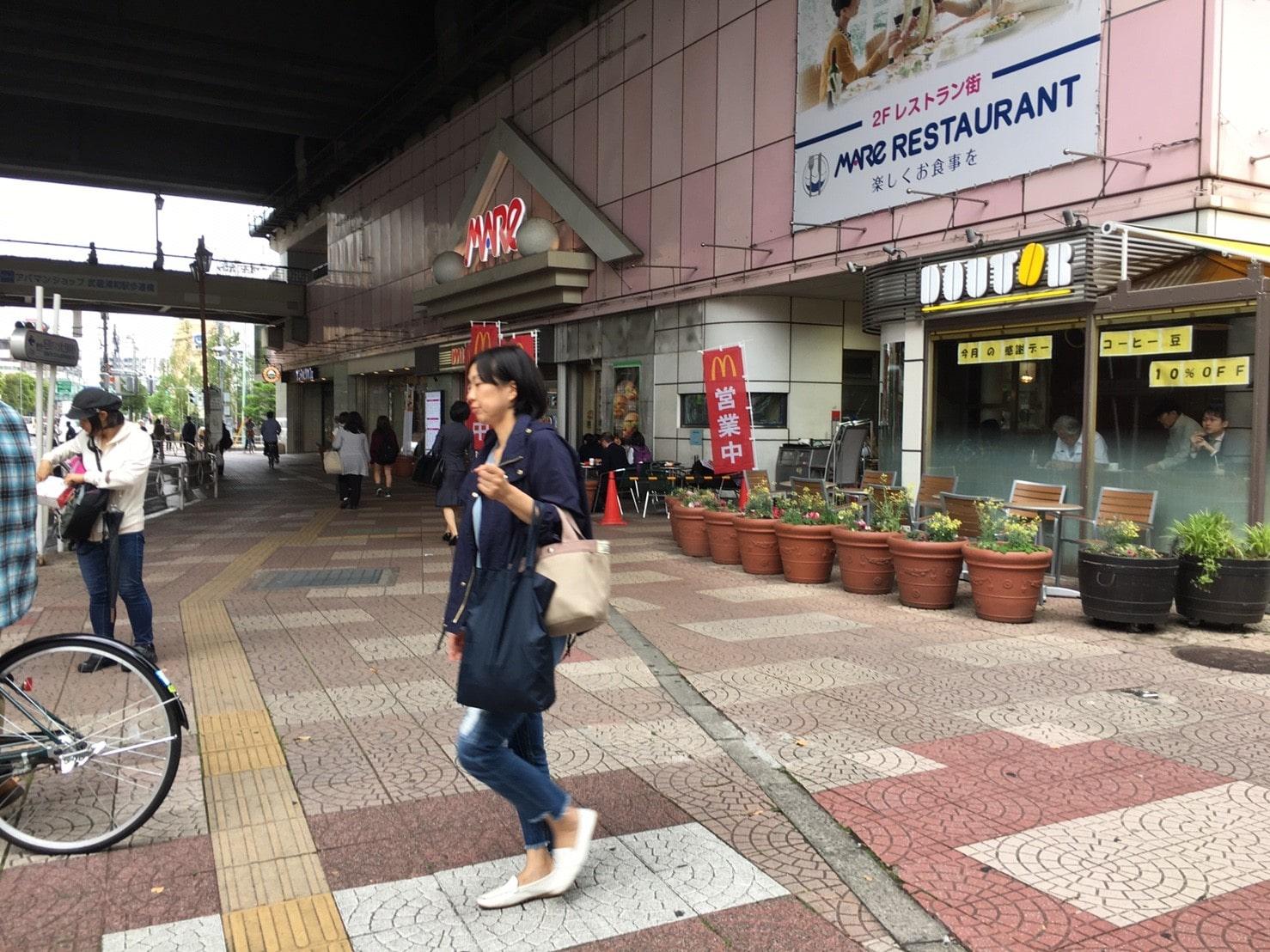 駅直結のショッピング施設