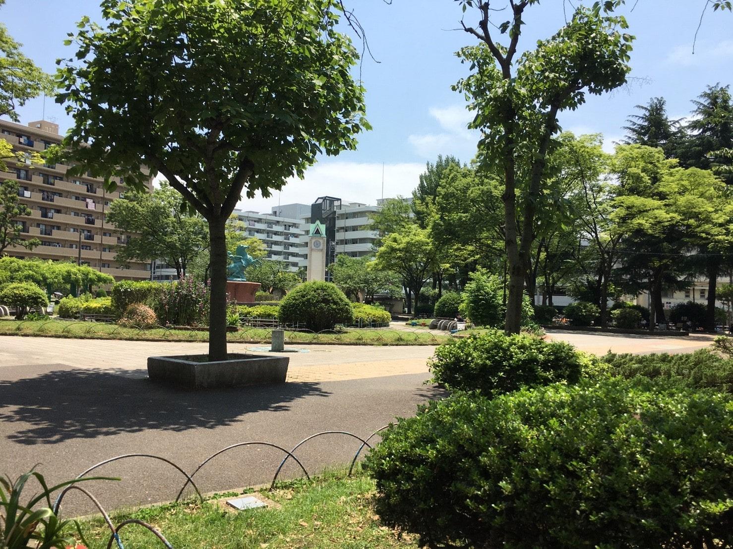 緑の多い公園