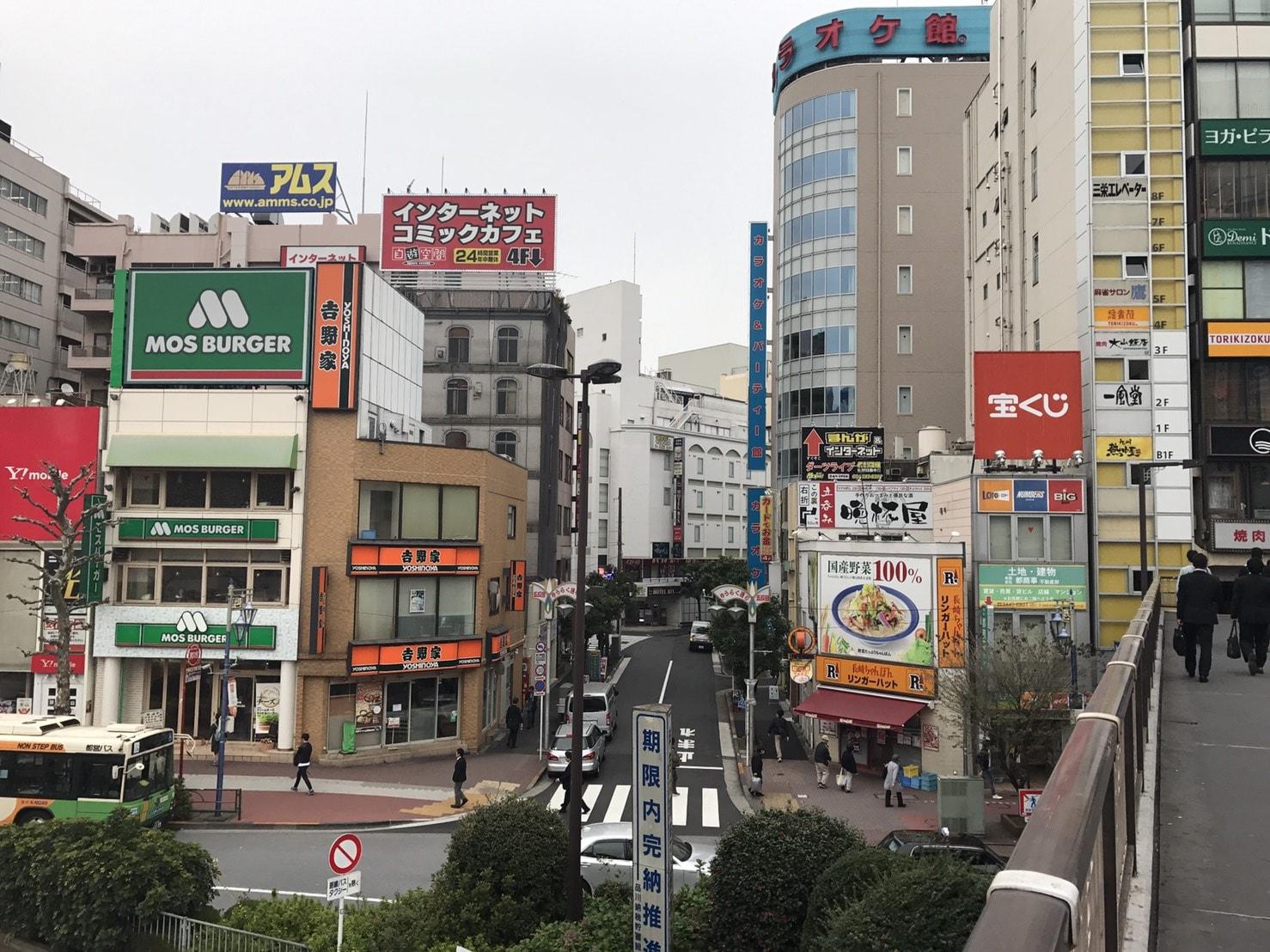 五反田駅周辺の雰囲気