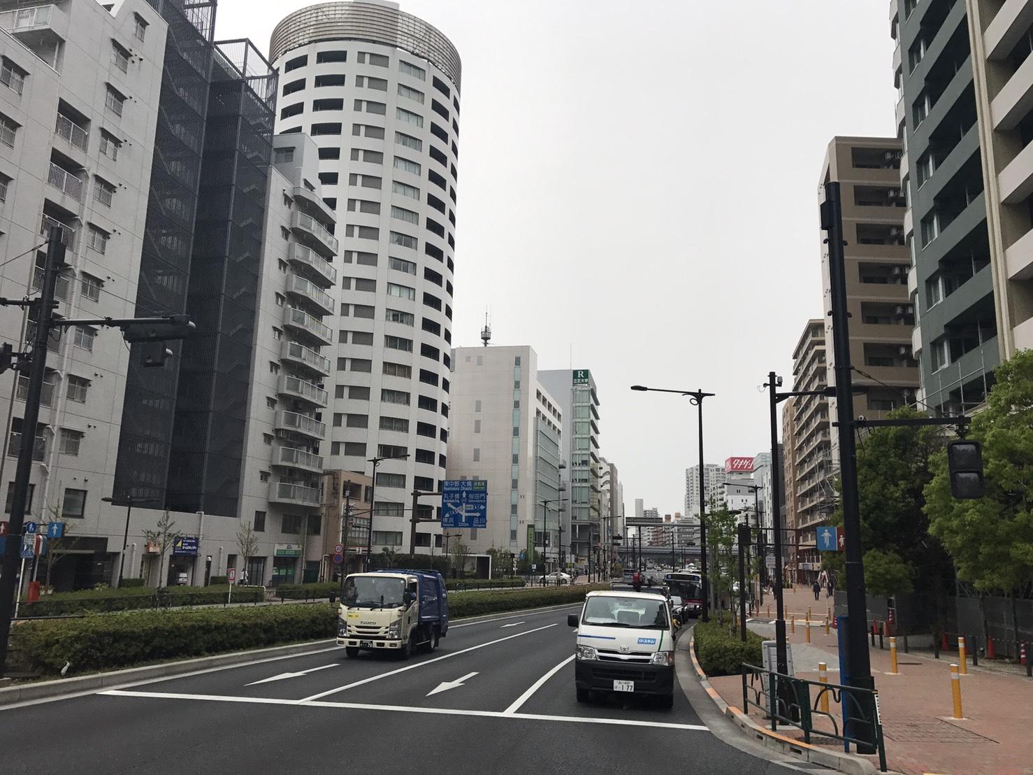 大崎駅大通り沿いのマンション
