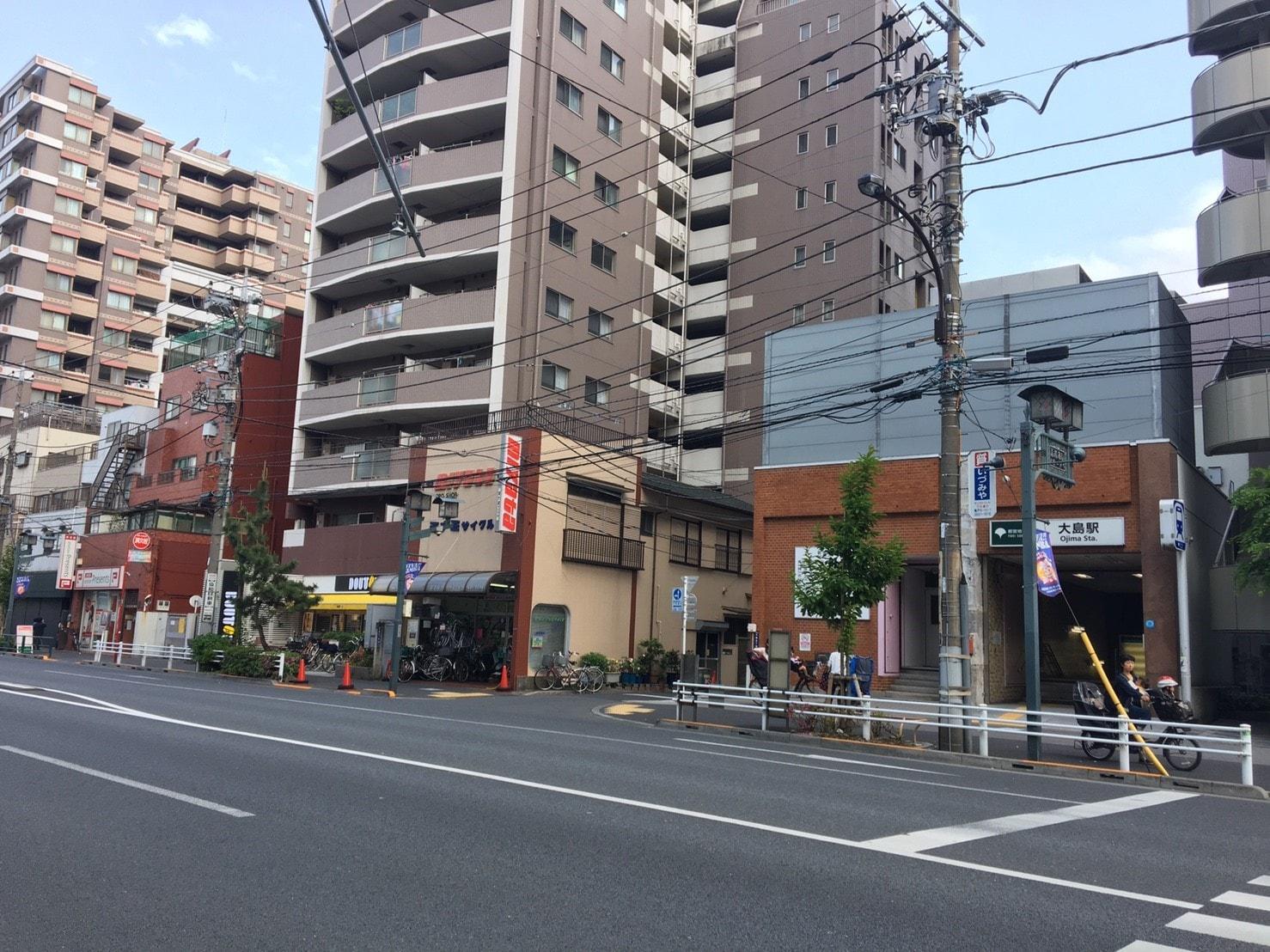 大島駅周辺の街並み