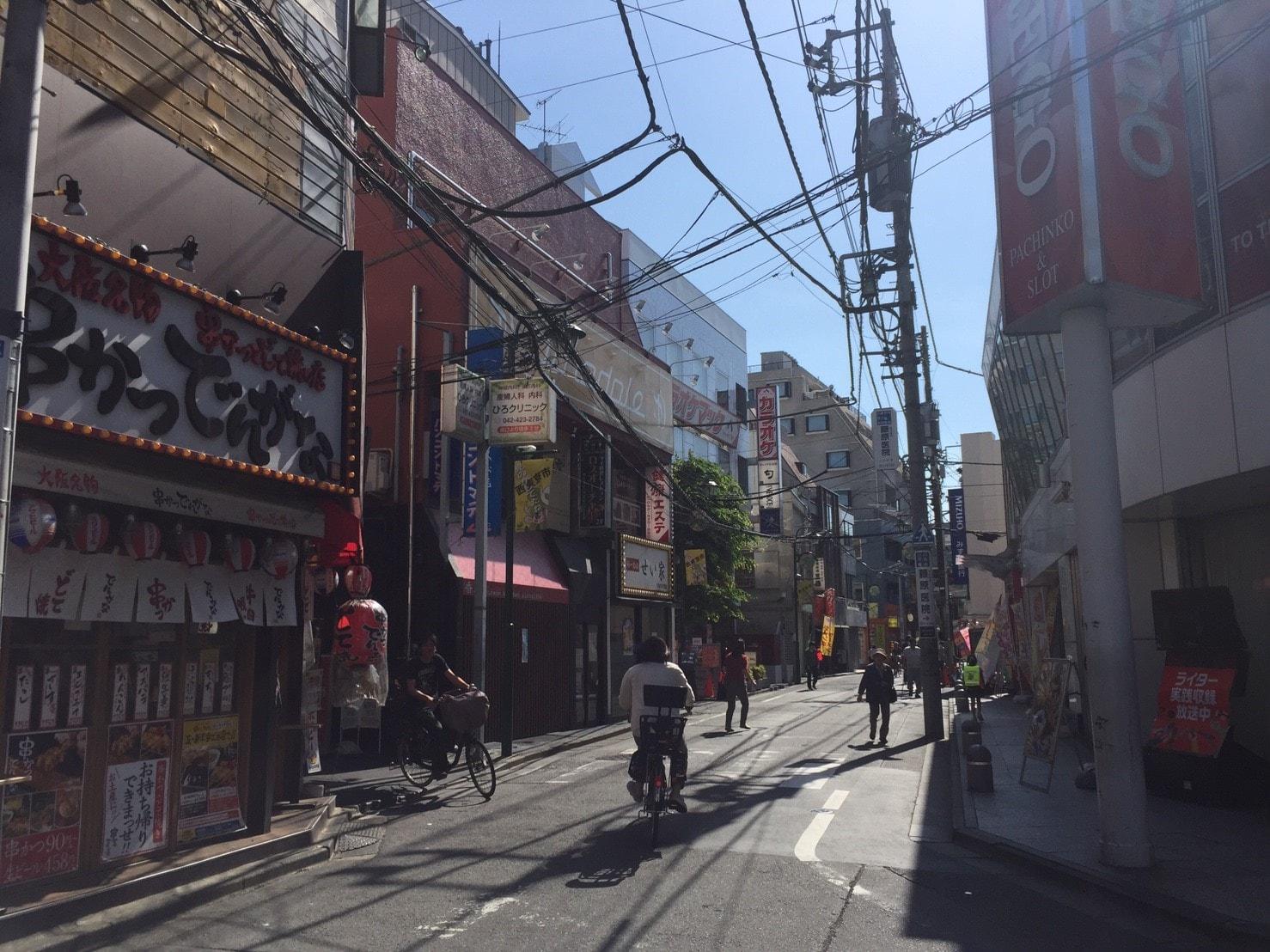 飲食店が多く営業している商店街