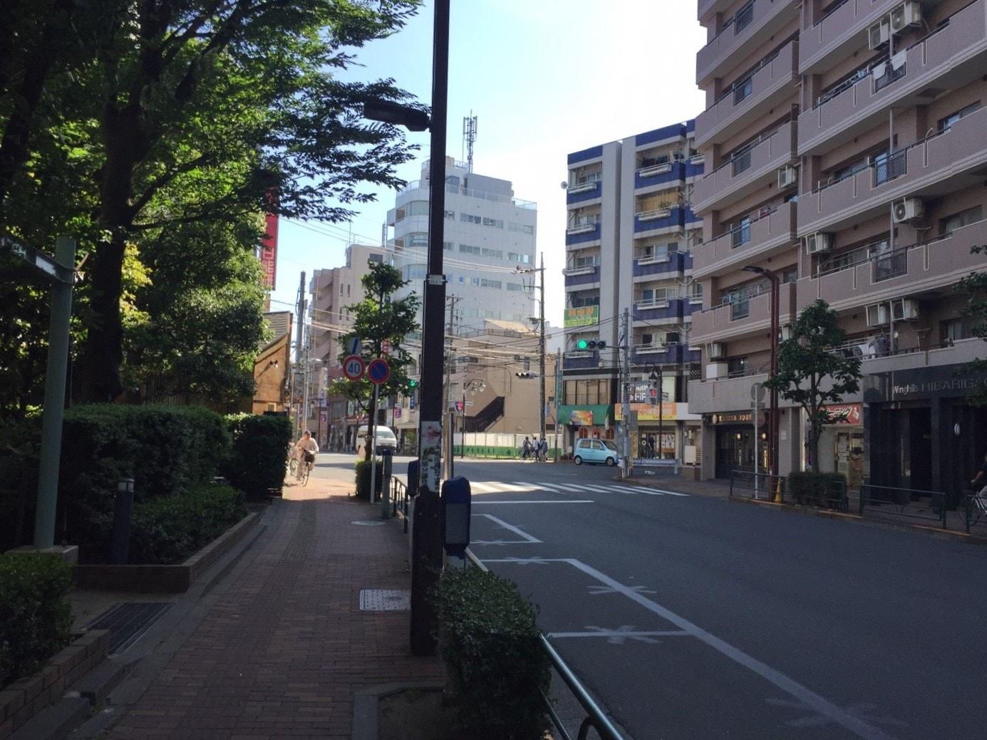 きちんと舗装されている歩道と車道