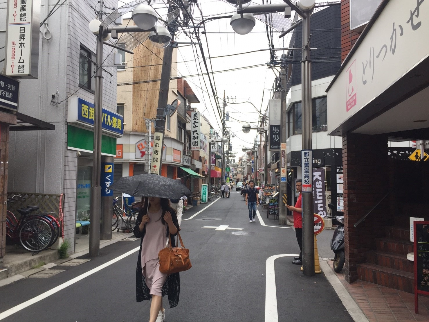 人通りが多い商店街