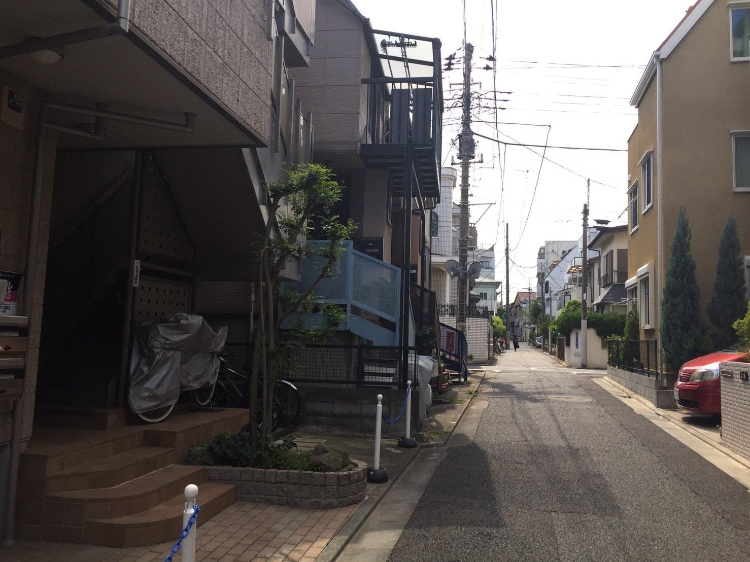 大岡山駅 周辺の住宅街