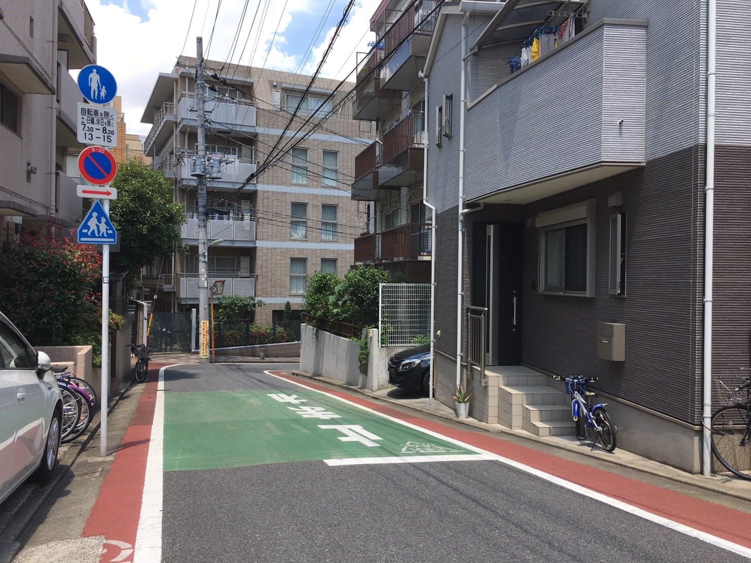 武蔵小山方面への住宅街