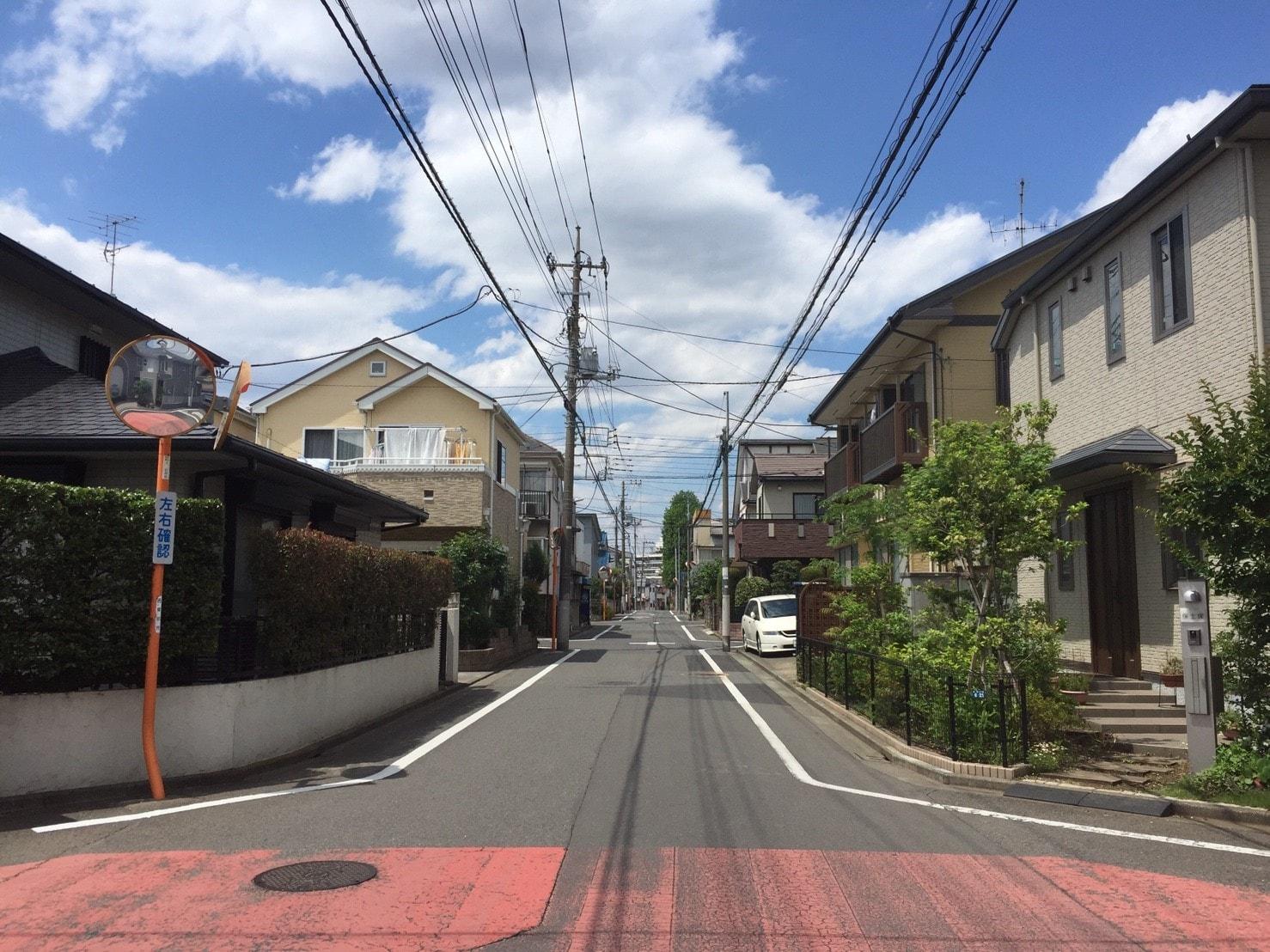 田無駅 周辺の住宅街