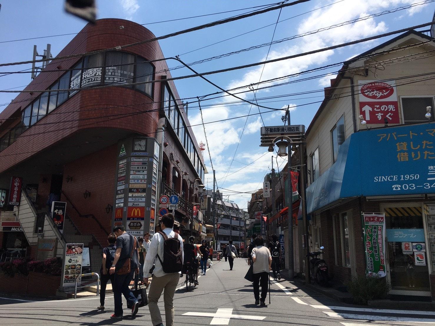 不動前駅通り商店街(東側)