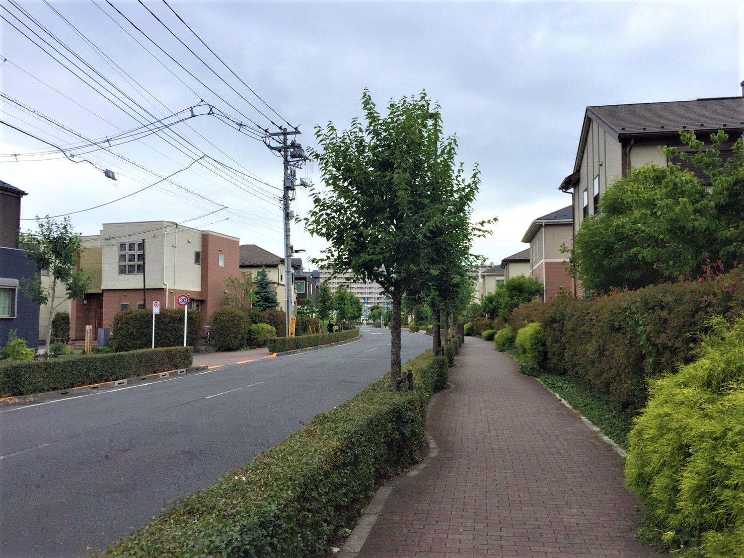 緑が多い住宅街