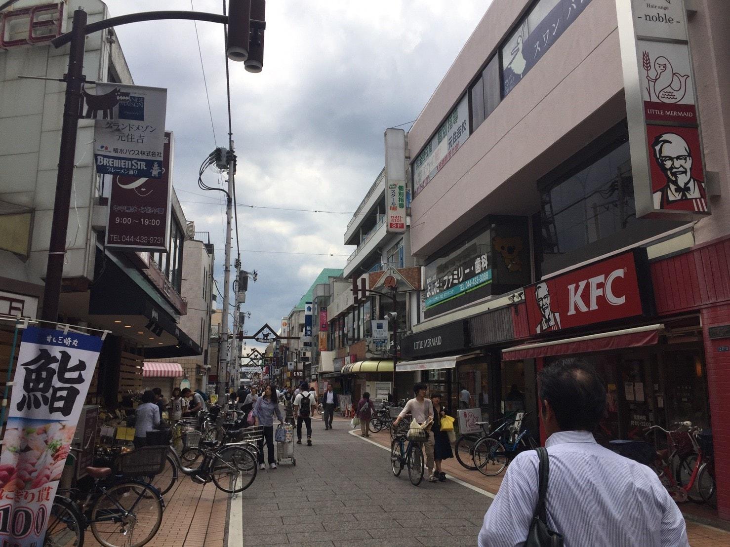 人で賑わう商店街の風景