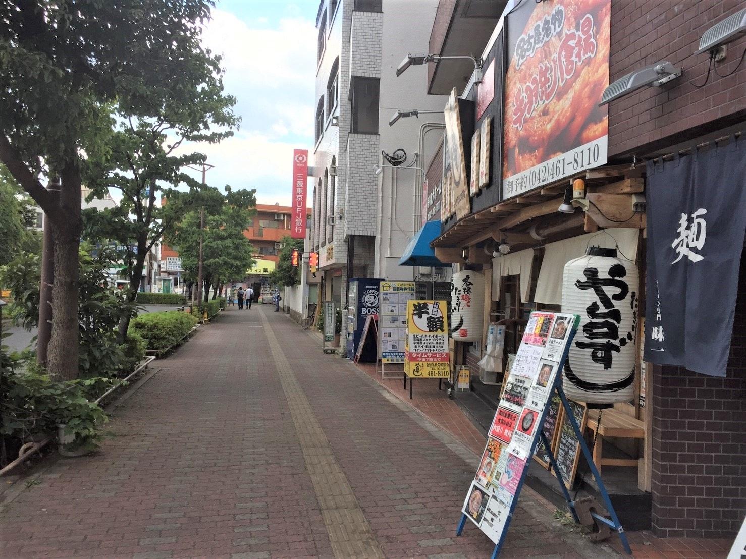 駅前の飲食店街