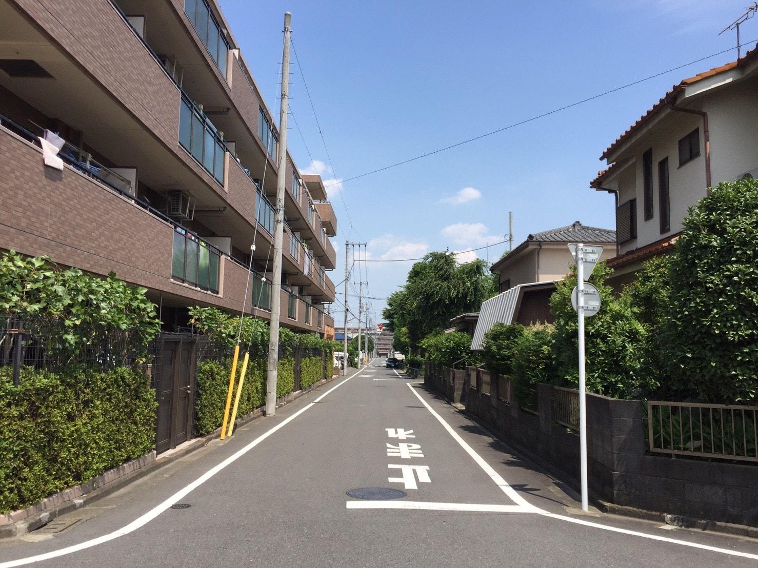 多い住宅街