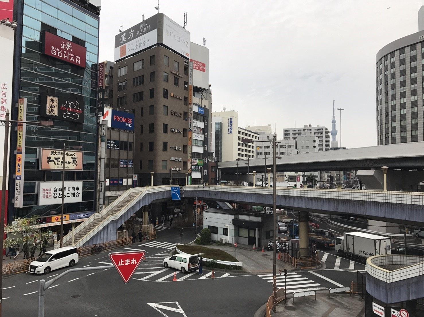 上野駅は交通量が多い
