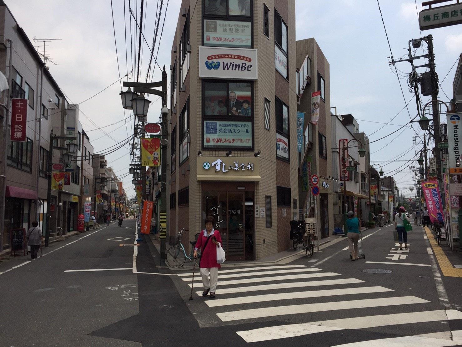 駅前の商店街