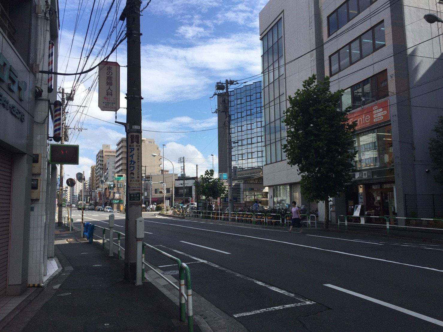 新大塚駅1番出口周辺の景色