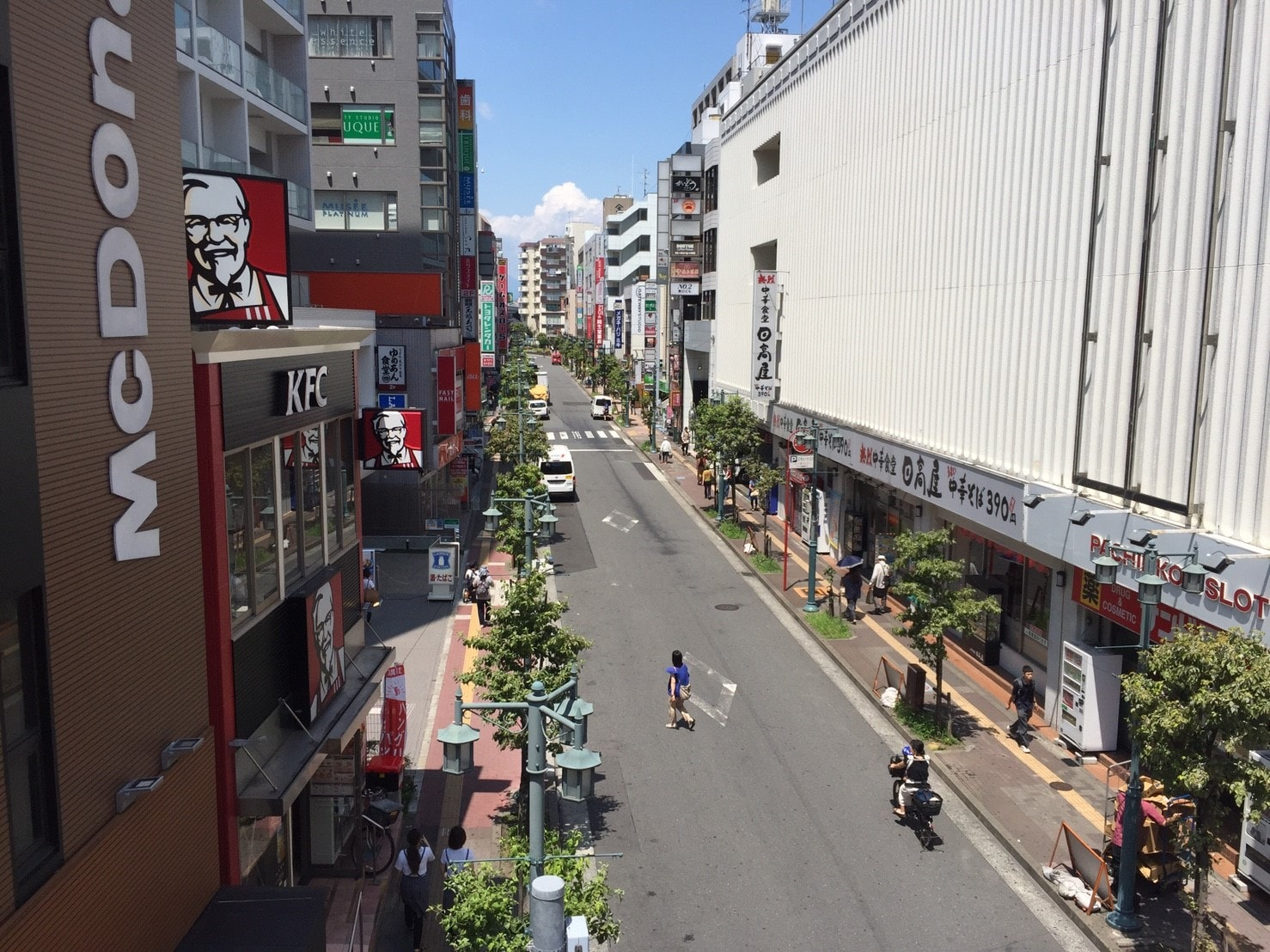 立川駅北口周辺の様子