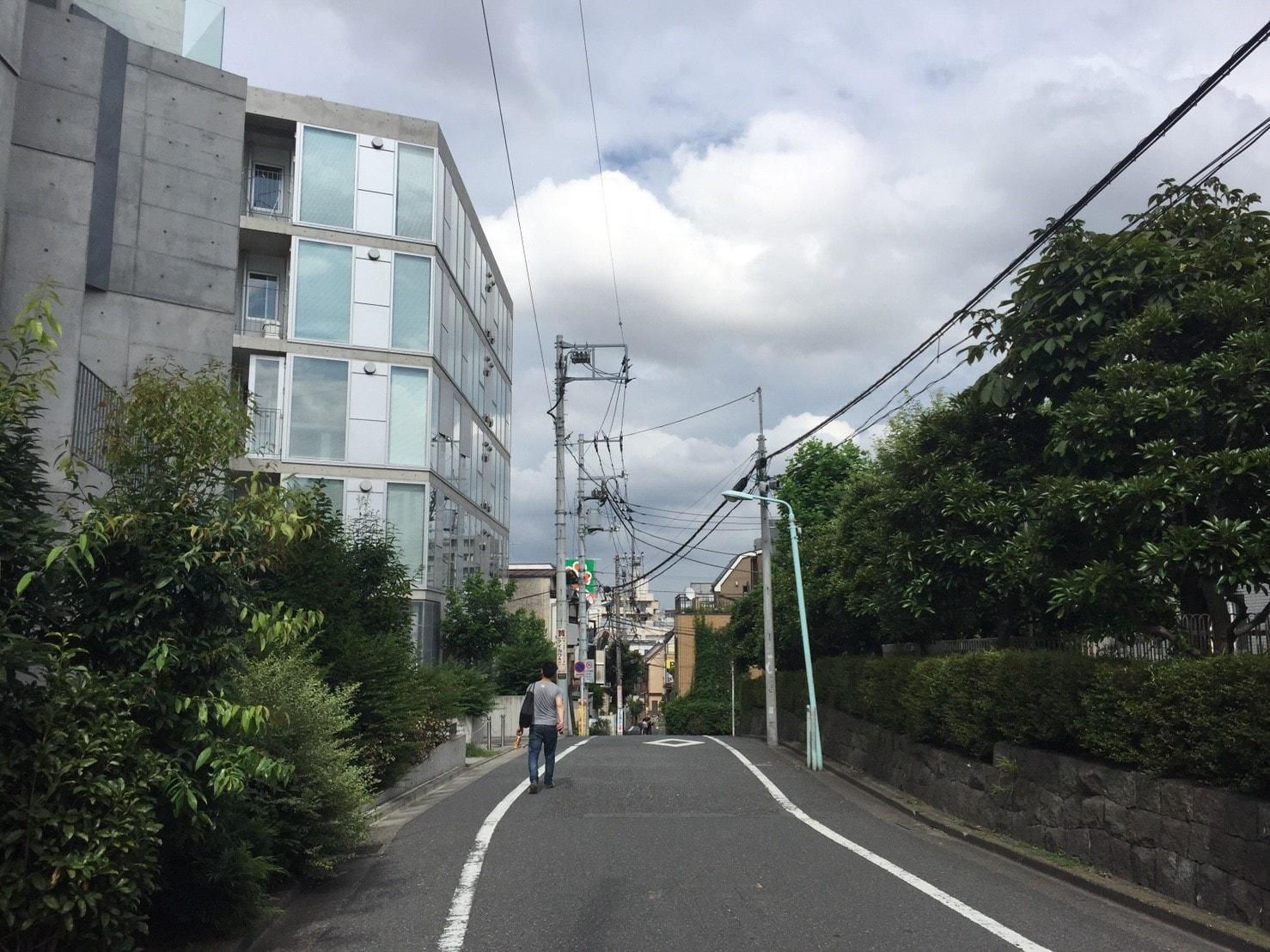 大塚駅の北東の住宅街