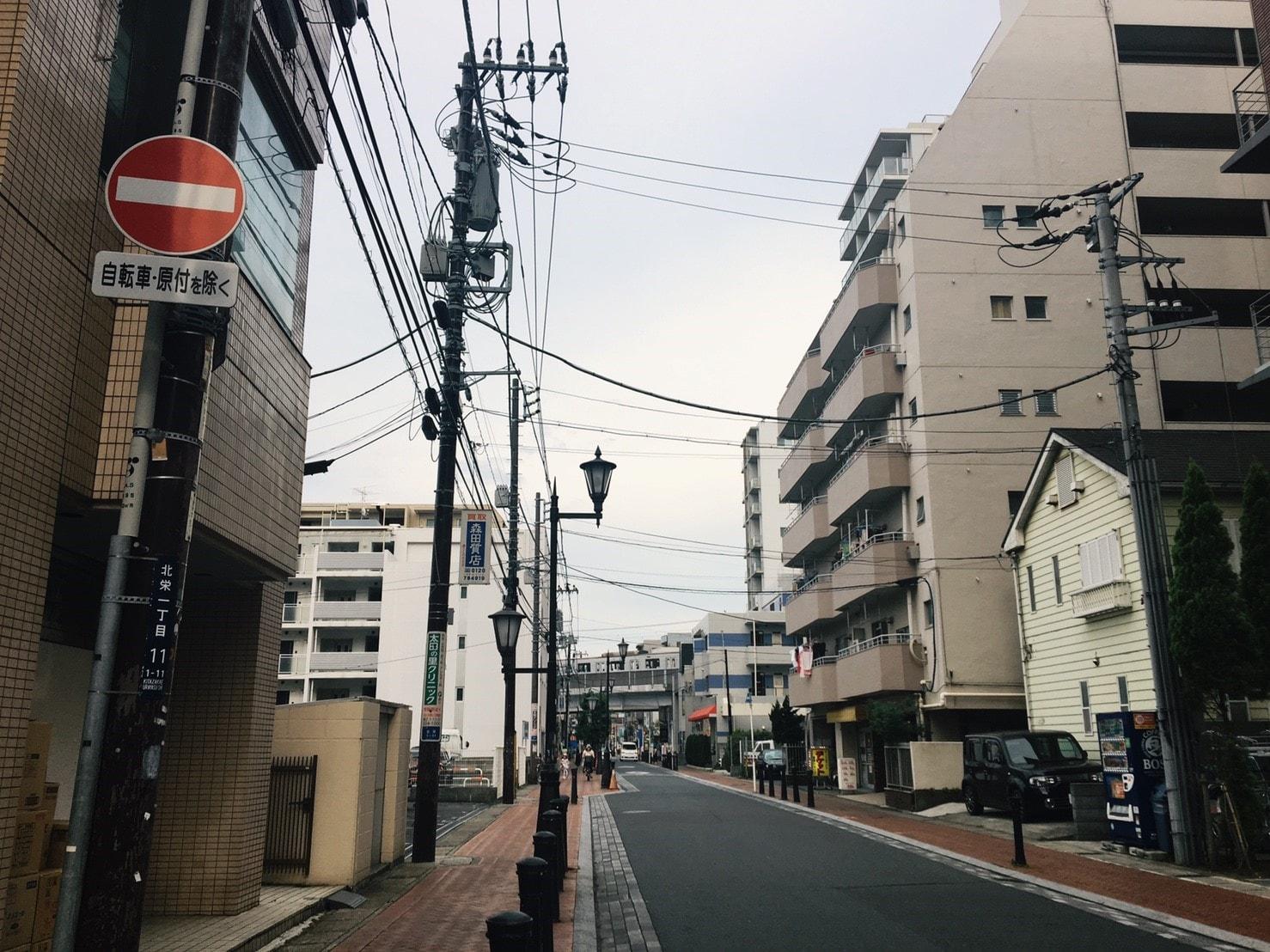 駅近くの住宅街