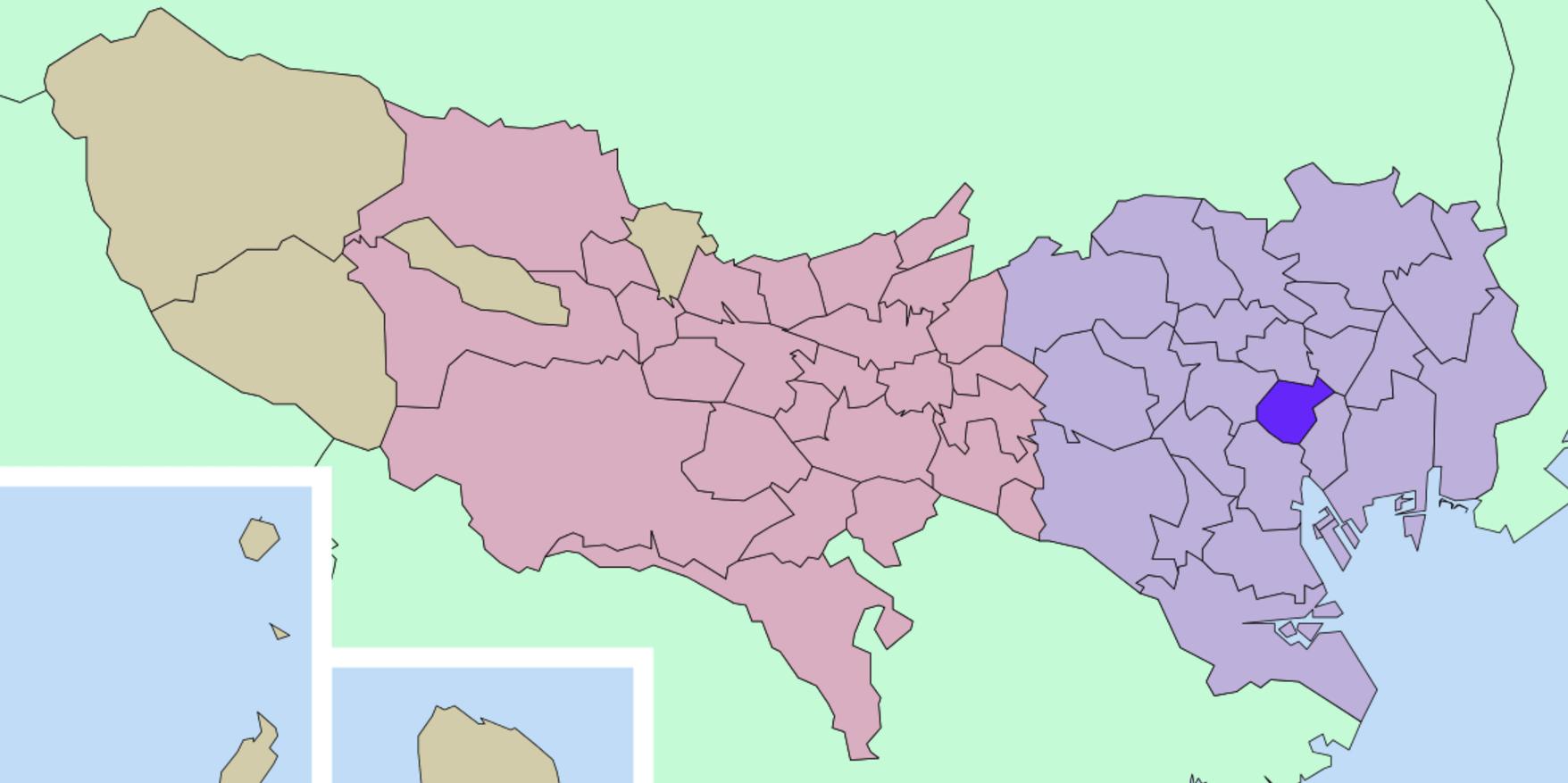 千代田区の地図
