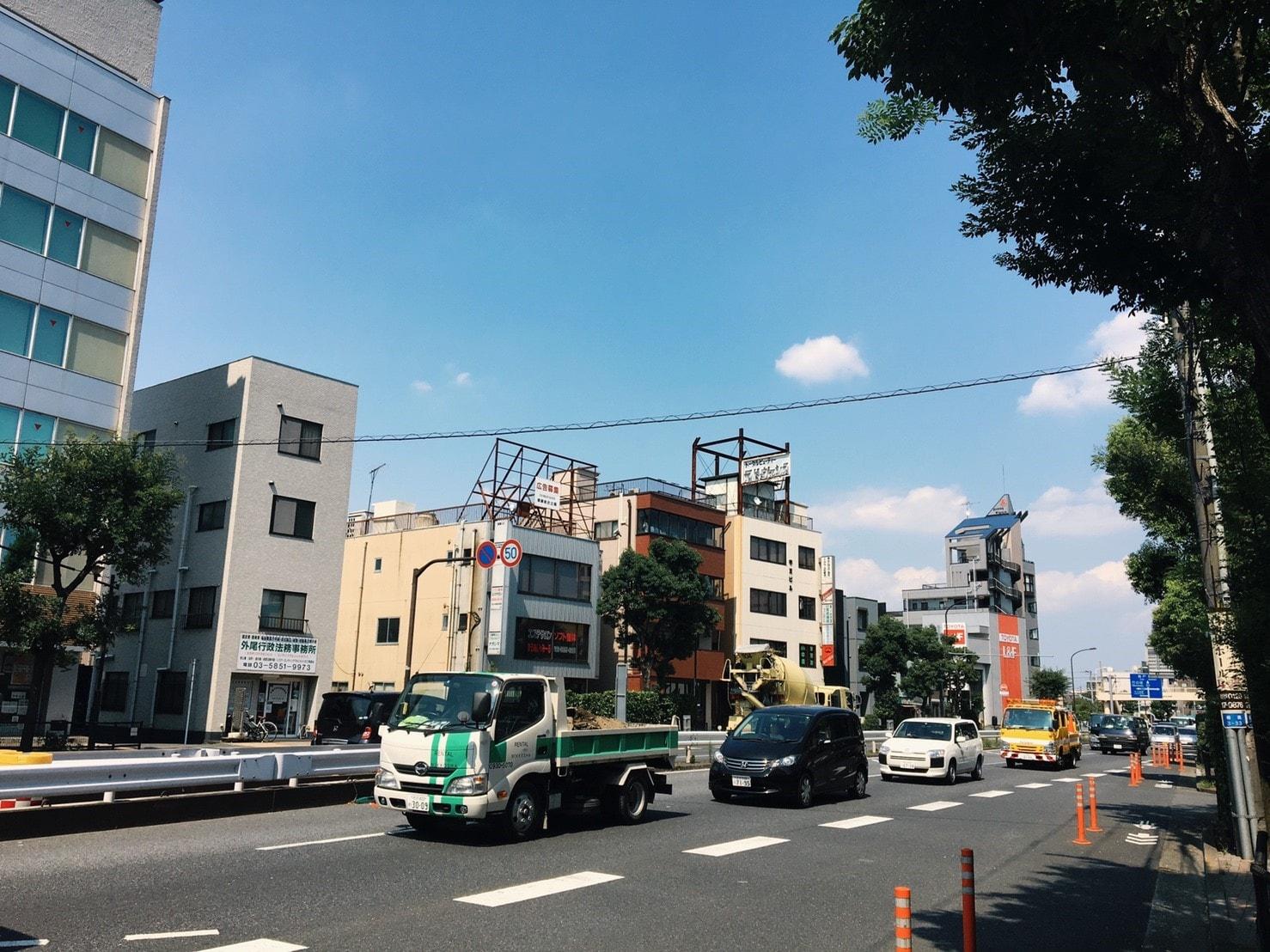 西新井駅 環七通り