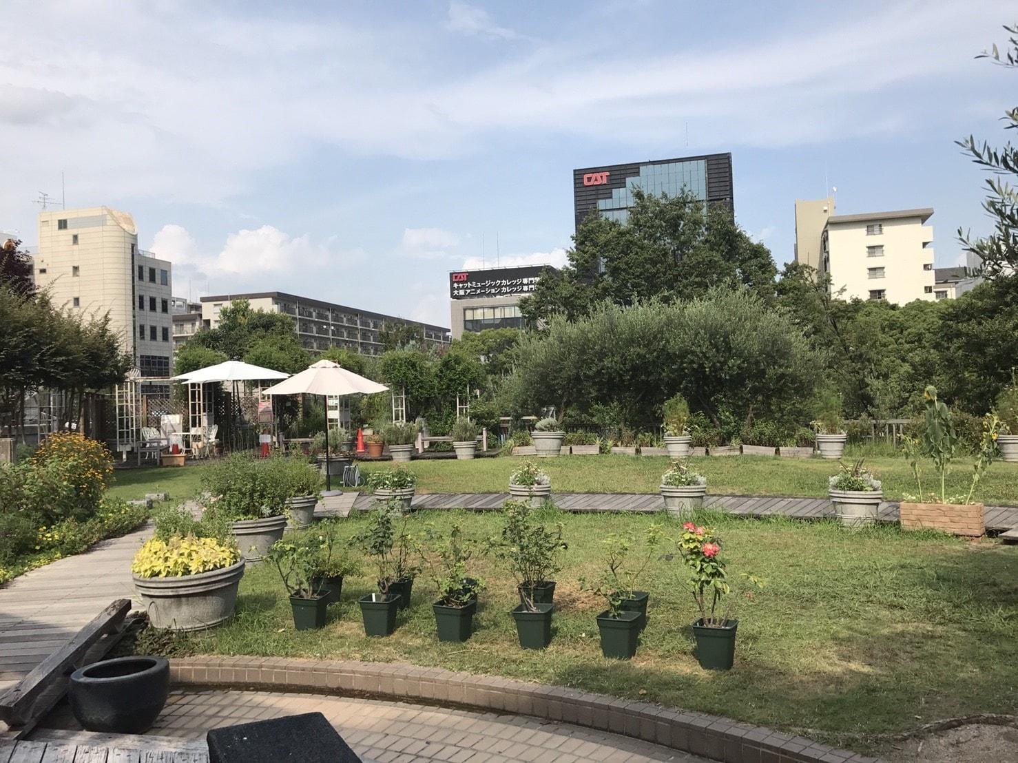 江坂公園のガーデンエリア