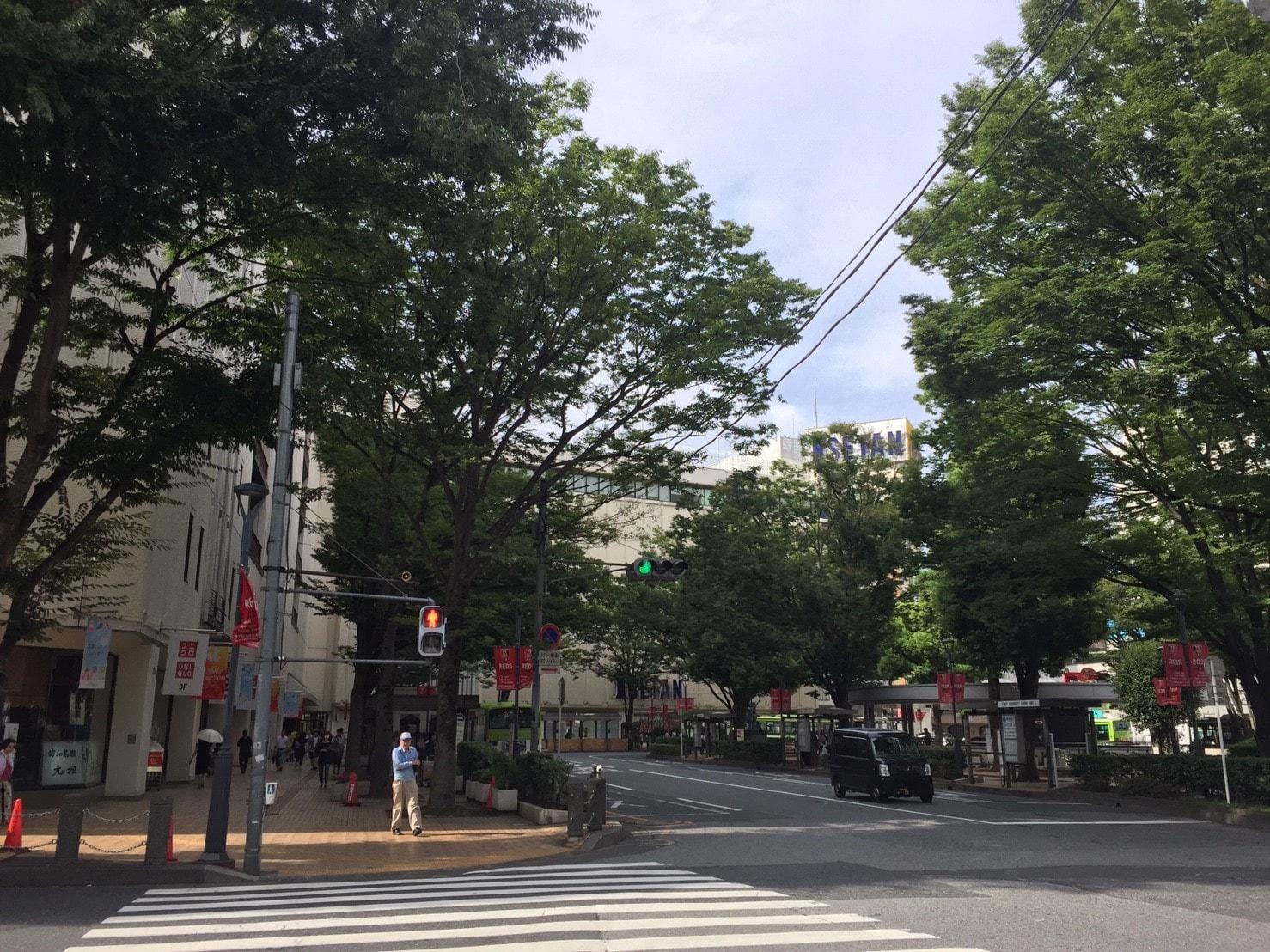 浦和駅周辺の街並み