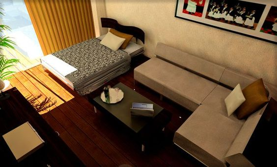 コーナーソファを置いたレイアウト