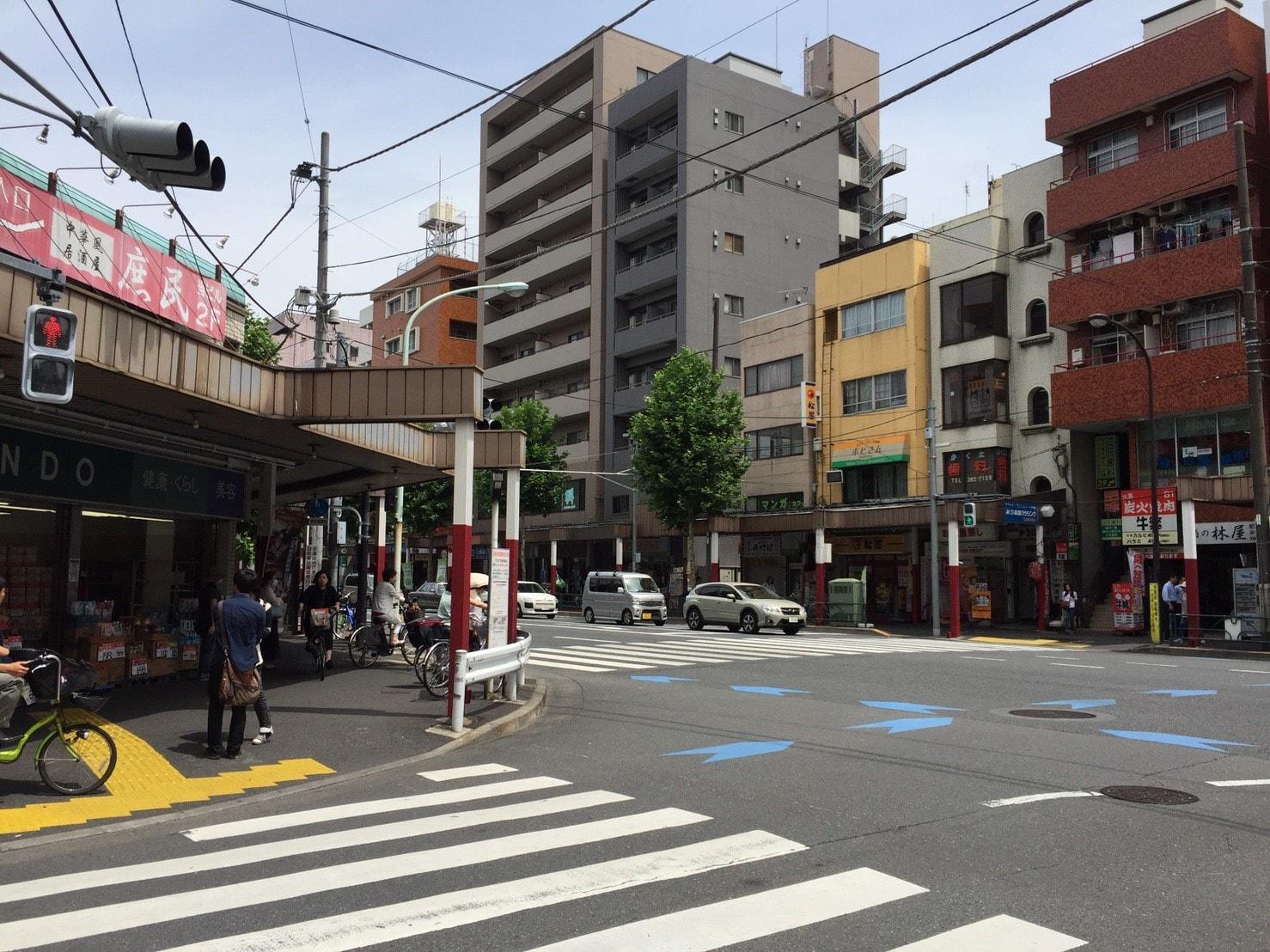 新中野駅の街並み