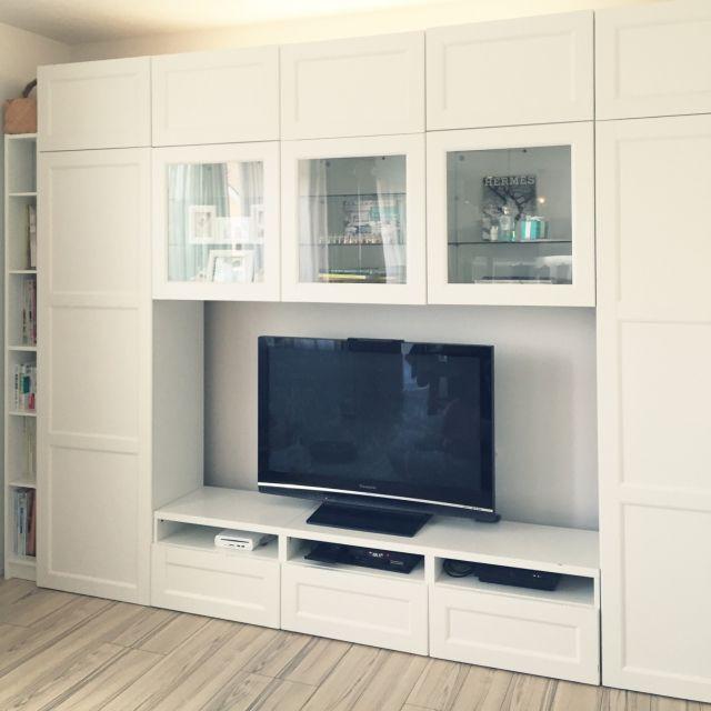 テレビボード兼用壁面収納