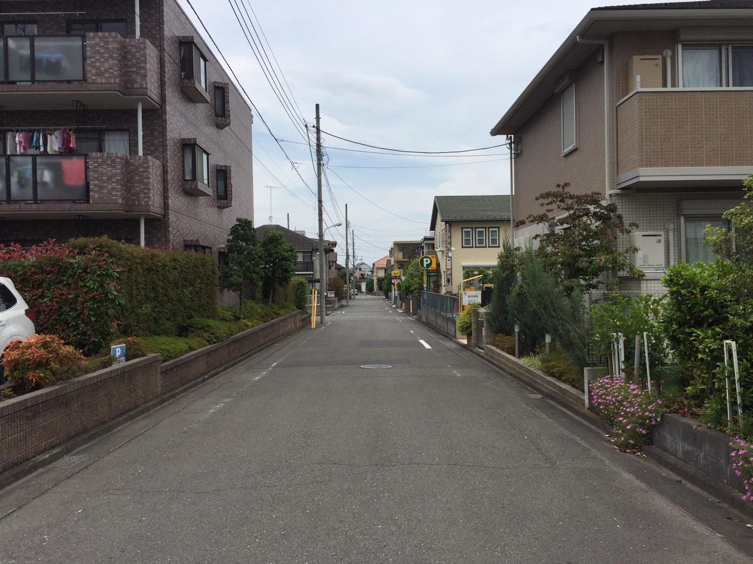 住宅街の様子